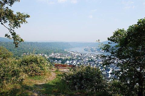 Blick auf Bad Salzig bei Boppard, Romantischer Rhein