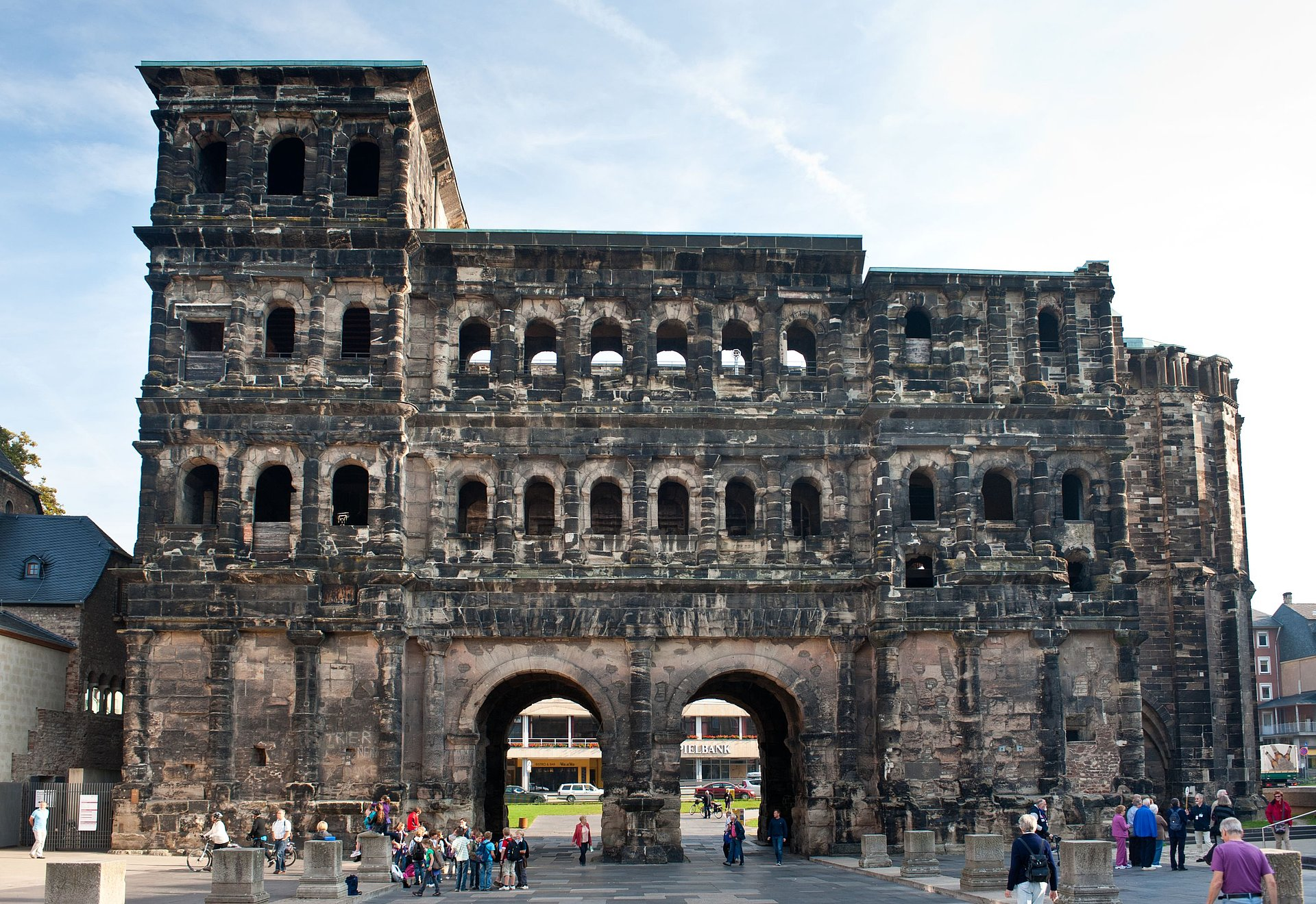 View of the Roman Porta Nigra in Trier, Moselle