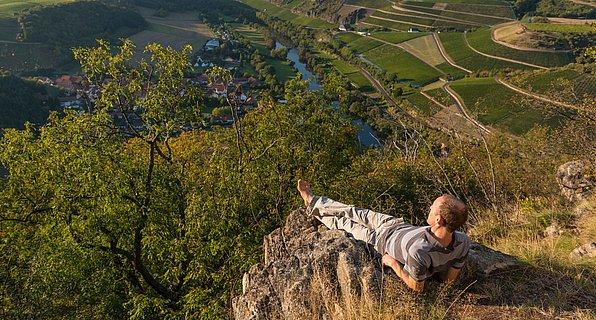 Uitzicht van de Lemberg op Niederhausen, Nahe-regio