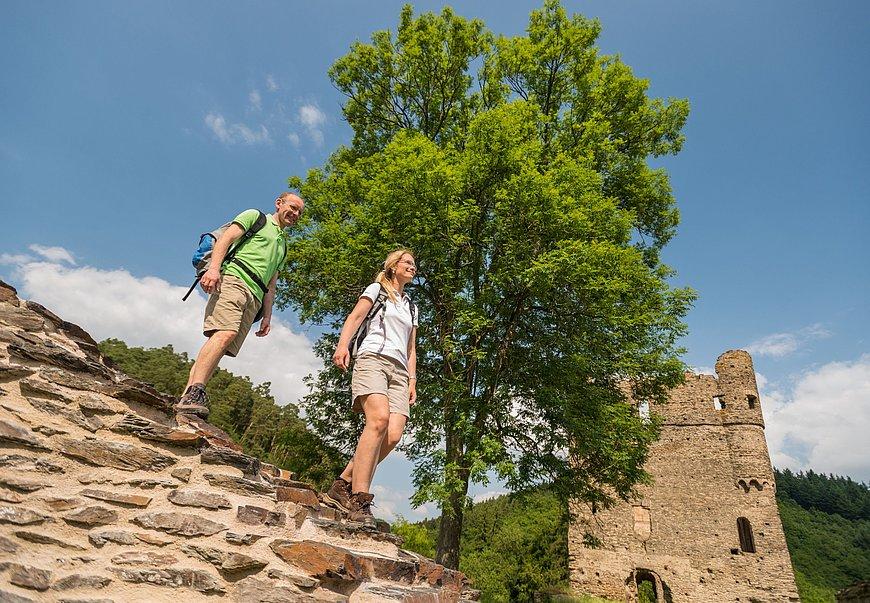 Wandertour auf der Traumschleife Masdascher Burgherrenweg, Hunsrück