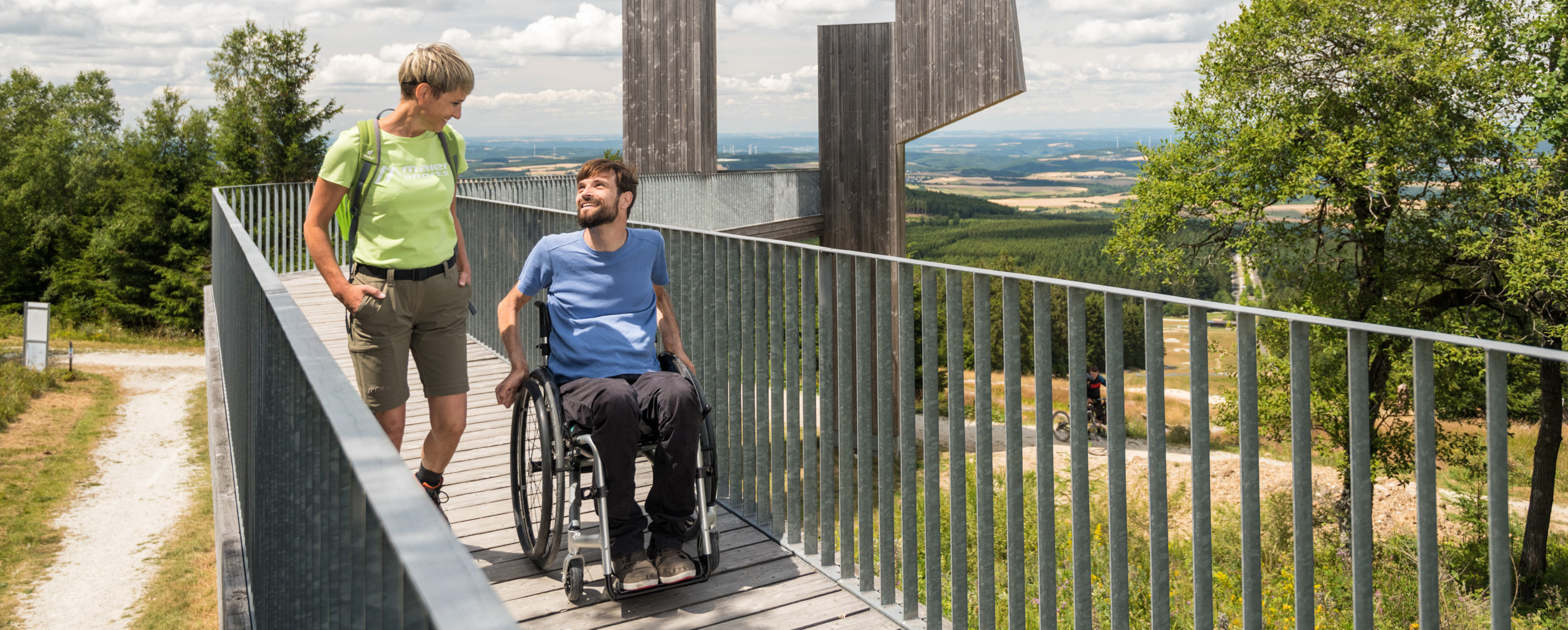 Accessible Windklang viewing platform on the Erbeskopf in Hunsrück