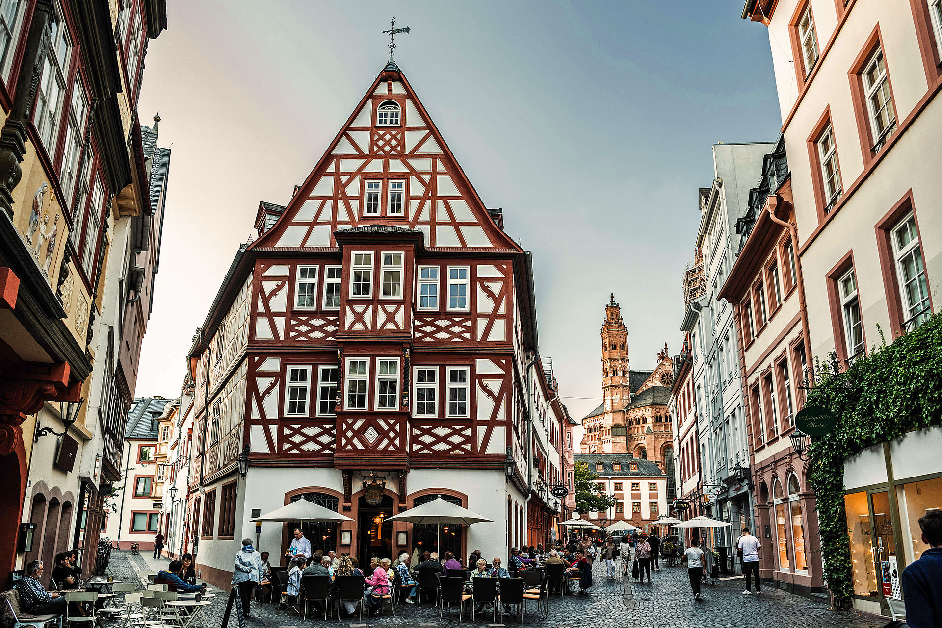 The old town of Mainz, Rhine-Hesse