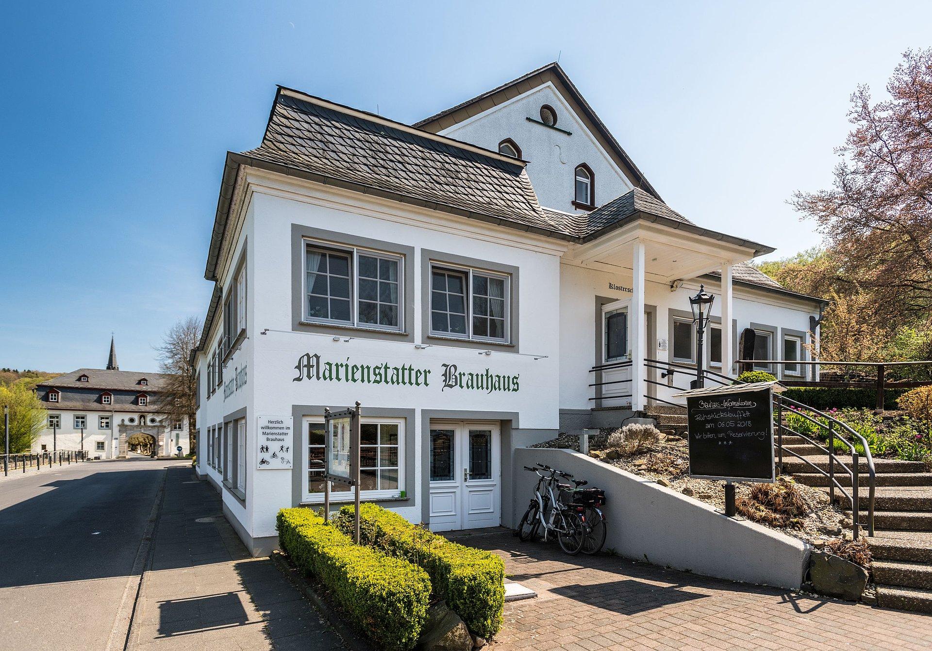 Marienstatt brewery in the Nistertal valley near Streithausen, Westerwald