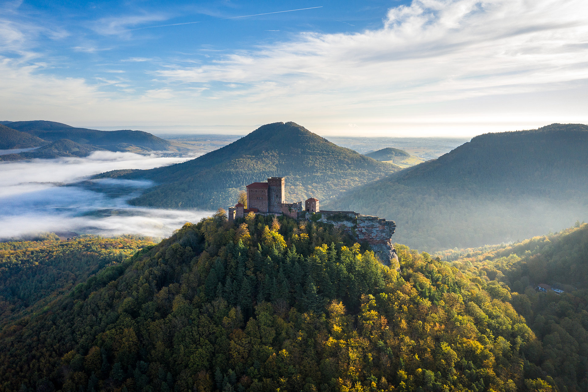 Beautiful view of the Trifels Castle, Palatinate