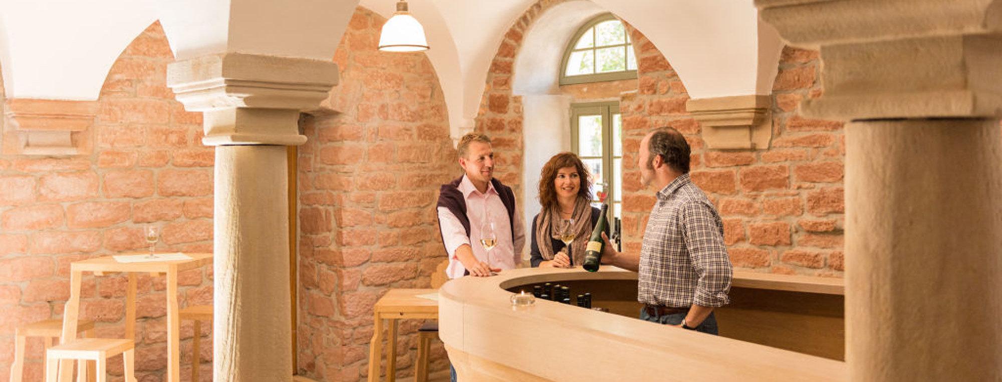 Wine tasting at a winery in Langenlonsheim, Nahe