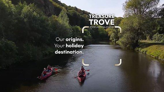Canoe tour on the idyllic Lahn, Lahn valley