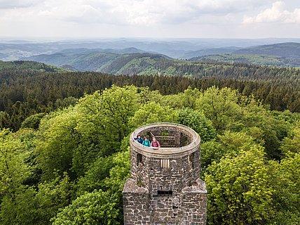 Aussichtspunkt Kaiser-Wilhelm-Turm auf der Hohen Acht bei Adenau, Eifel