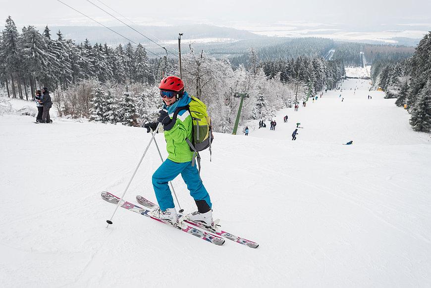A skier on Erbeskopf, Hunsrück