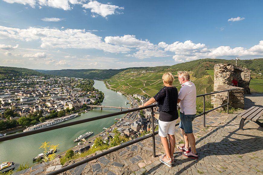 View from Landshut castle of Bernkastel-Kues, Moselle