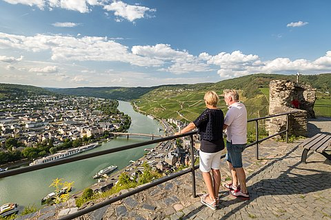View of the city of Bernkastel-Kues, Moselle