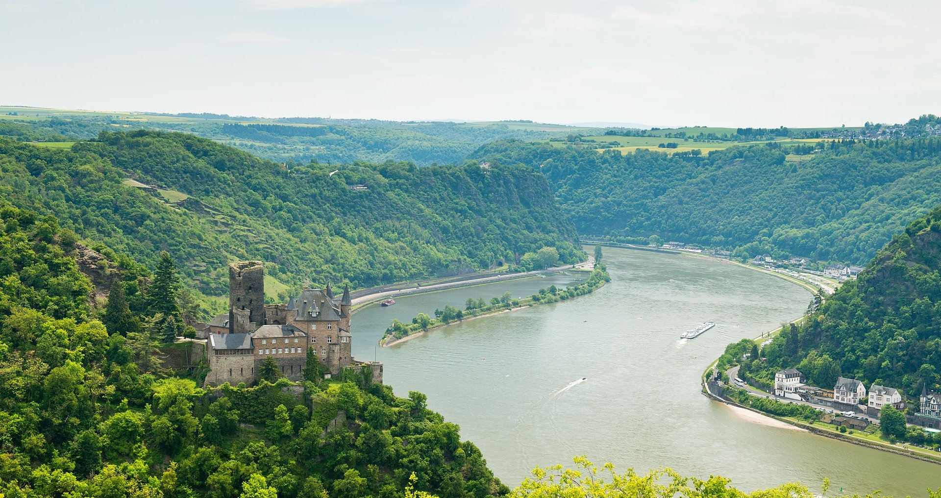Katz Castle at St.Goarshausen, Romantic Rhine