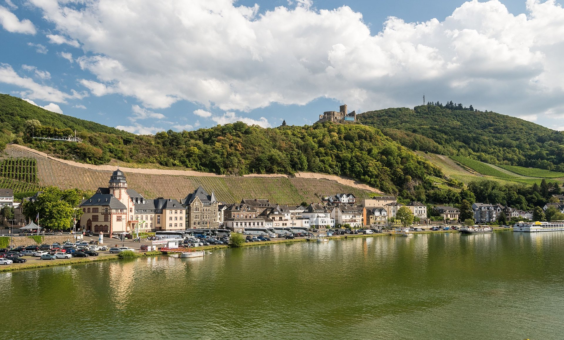 View of Landshut Castle at Bernkastel, Moselle
