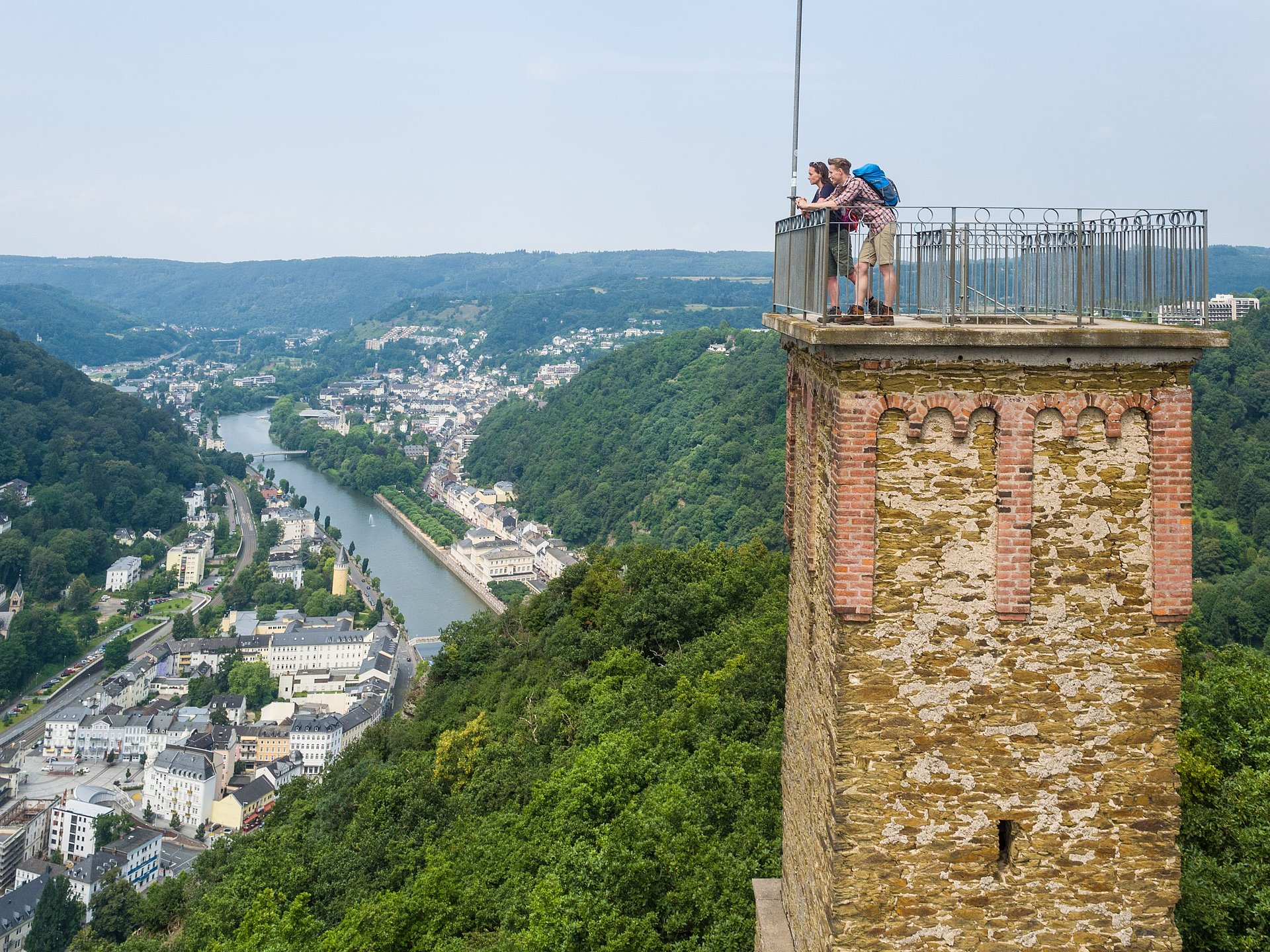 Concordia Tower in Bad Ems, Lahn valley