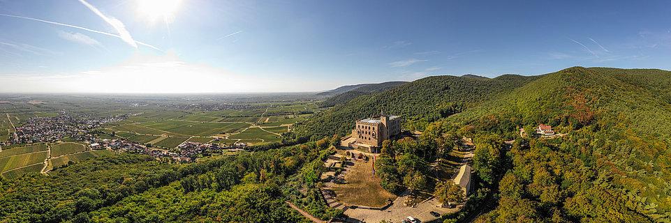 Vue sur la région palatine depuis le château de Hambach, Palatinat