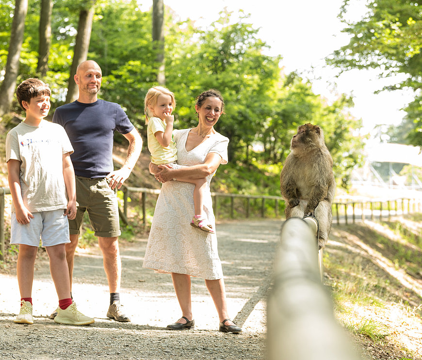 Familie im Wildpark Daun, Eifel