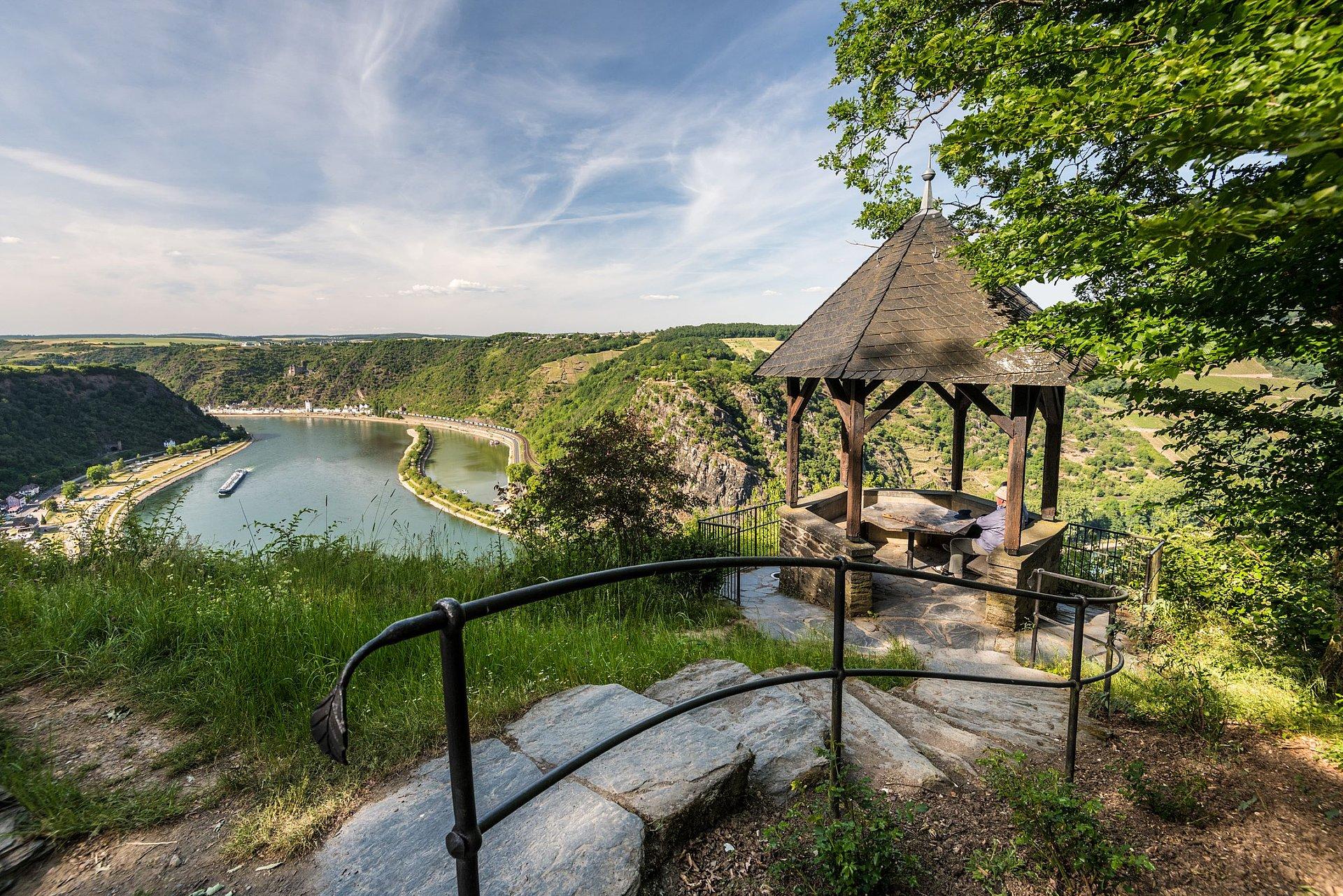 Ausblick auf den Loreley-Felsen, Romantischer Rhein