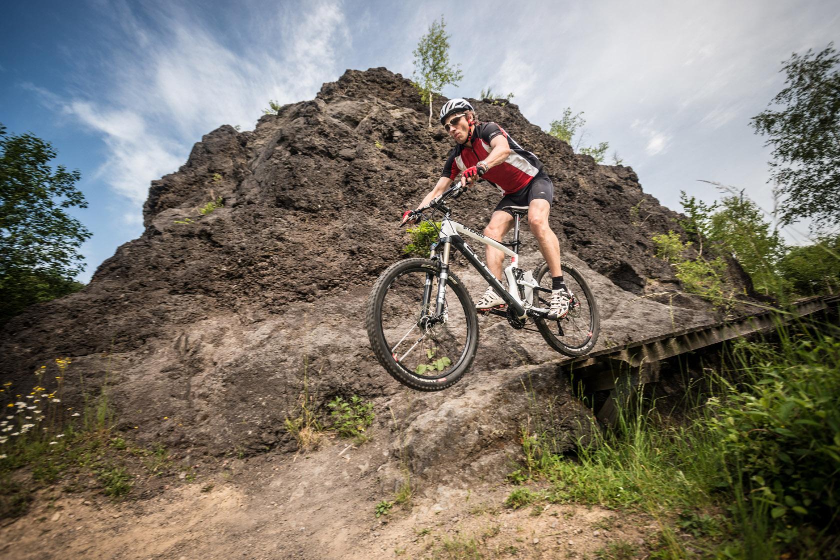 Mountainbike Action in der Eifel