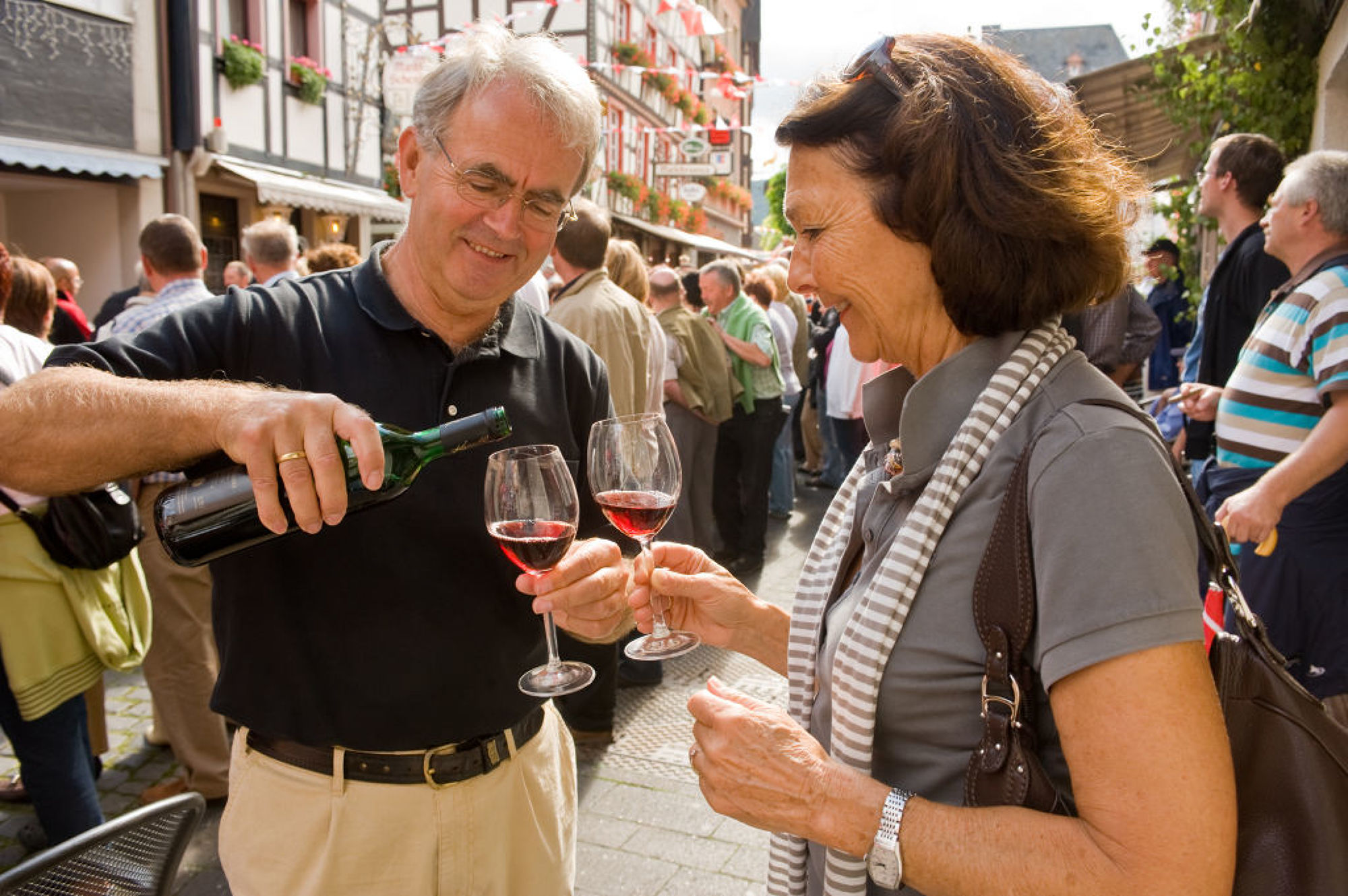 Wine delight at the Ahrweiler Winzerfest, Ahr valley