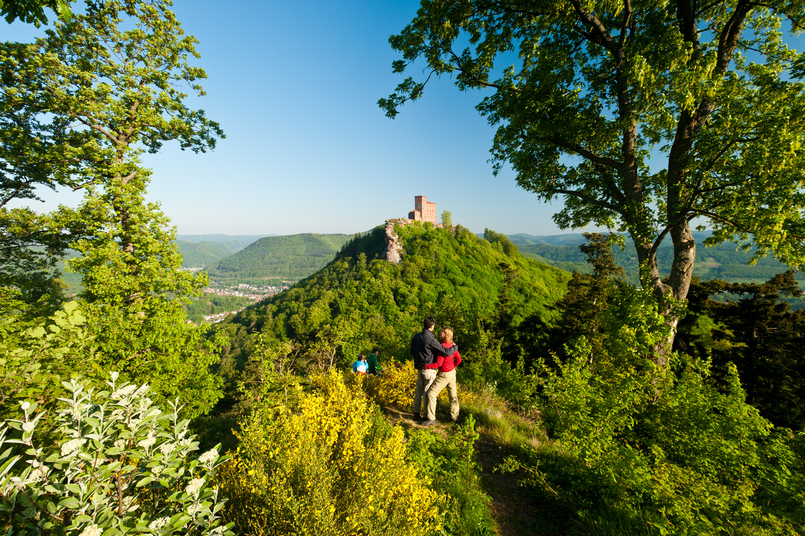 View of Trifels Castle near Annweiler am Trifels, Palatinate