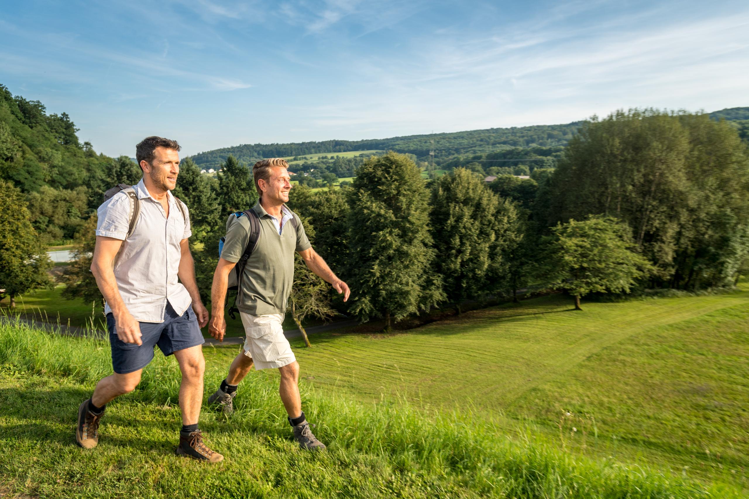Wandelaars op de WesterwaldSteig, Westerwald