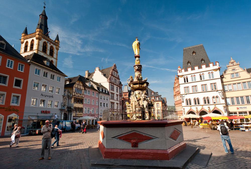 Die Altstadt von Trier, Mosel