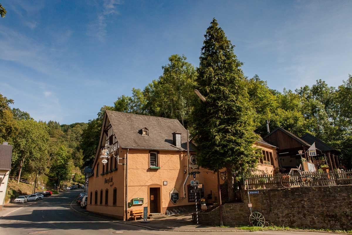 Burgencafé in Manderscheid, Eifel