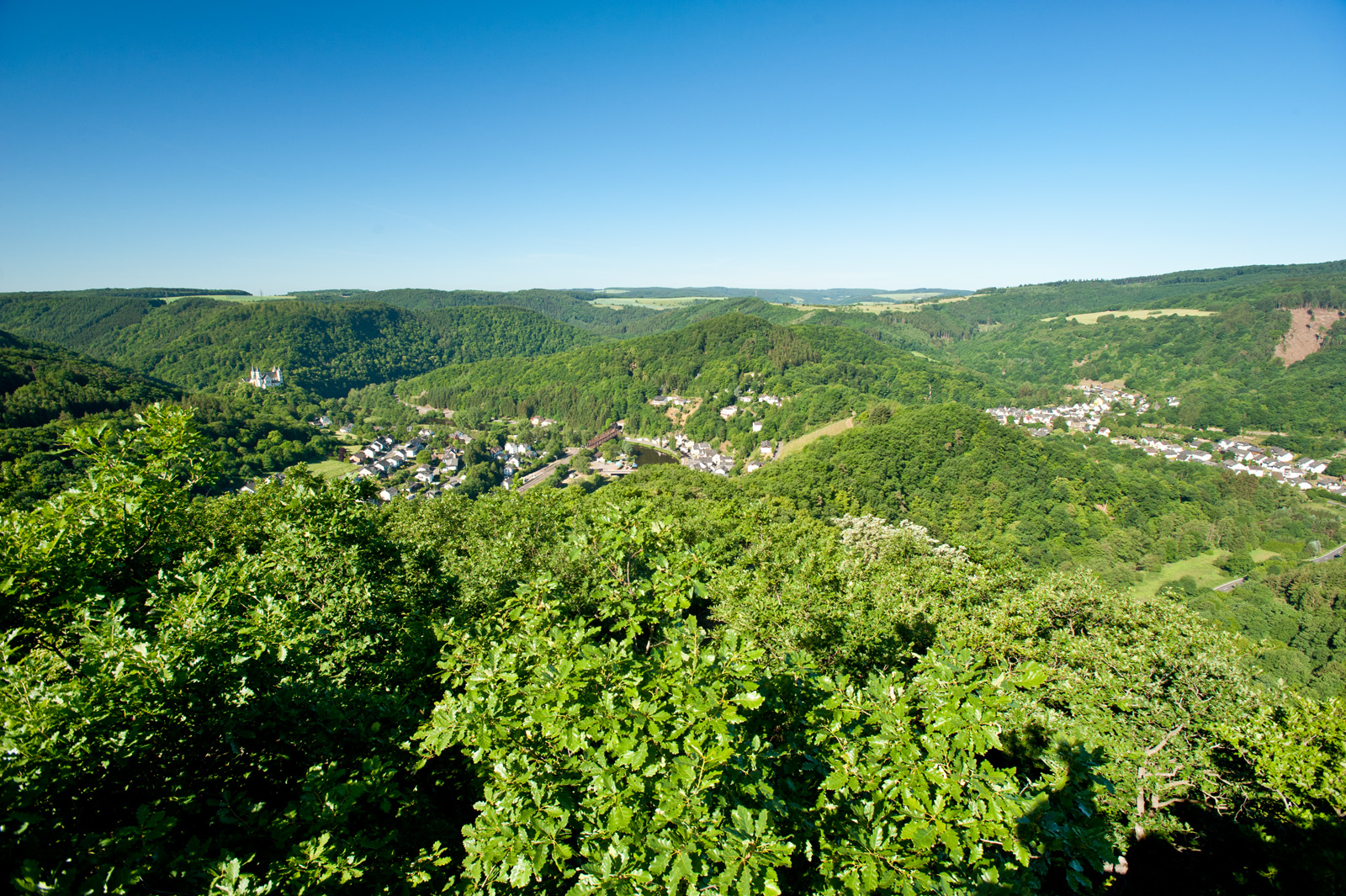 "View of Obernhof from the viewpoint ""Goethepunkt"", Lahn valley"