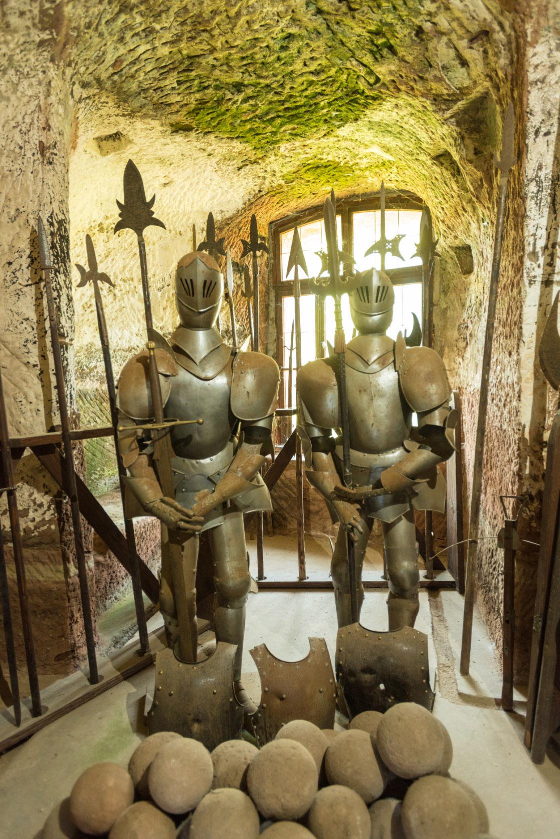 Ritter in der Burg Berwartstein in Erlenbach bei Dahn, Pfalz
