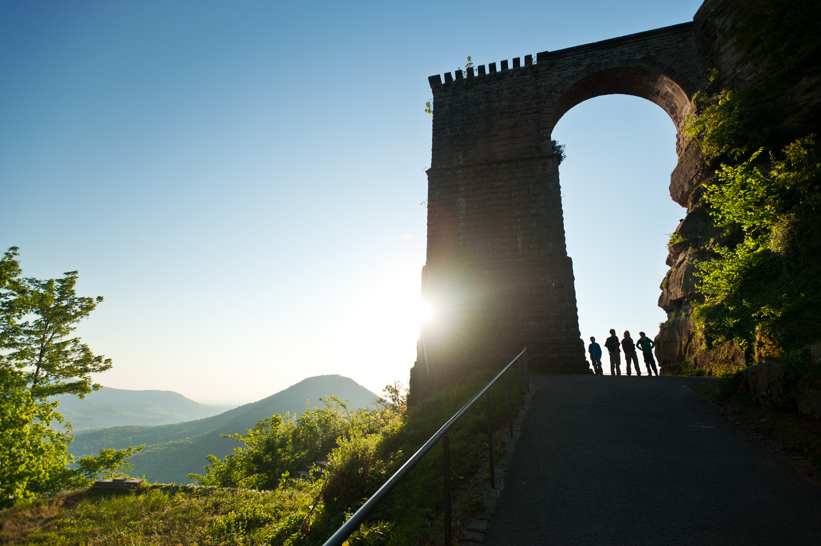 Sunset at Trifels Castle, Palatinate