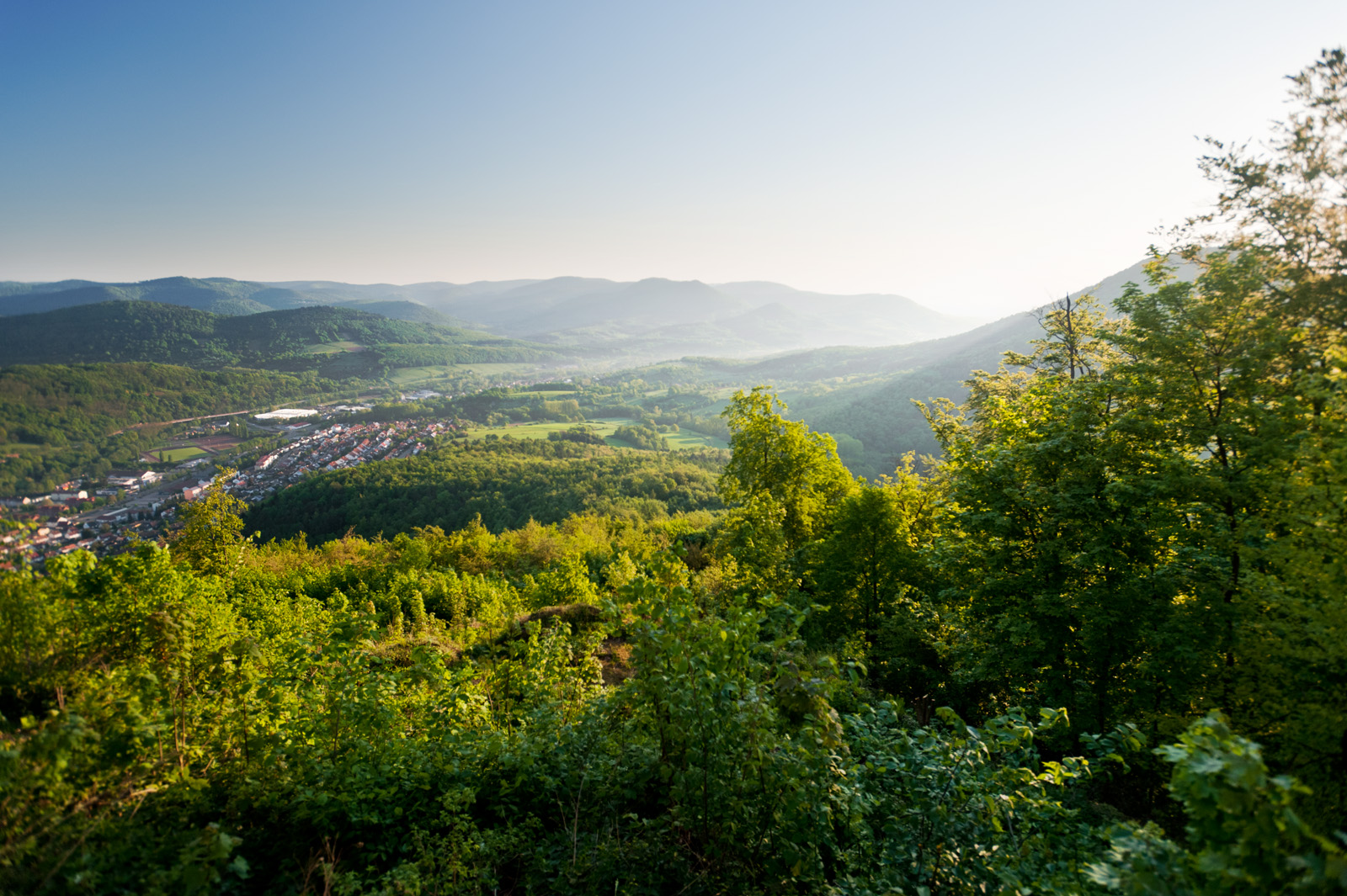 View from Trifels Castle of the Palatinate Forest, Palatinate