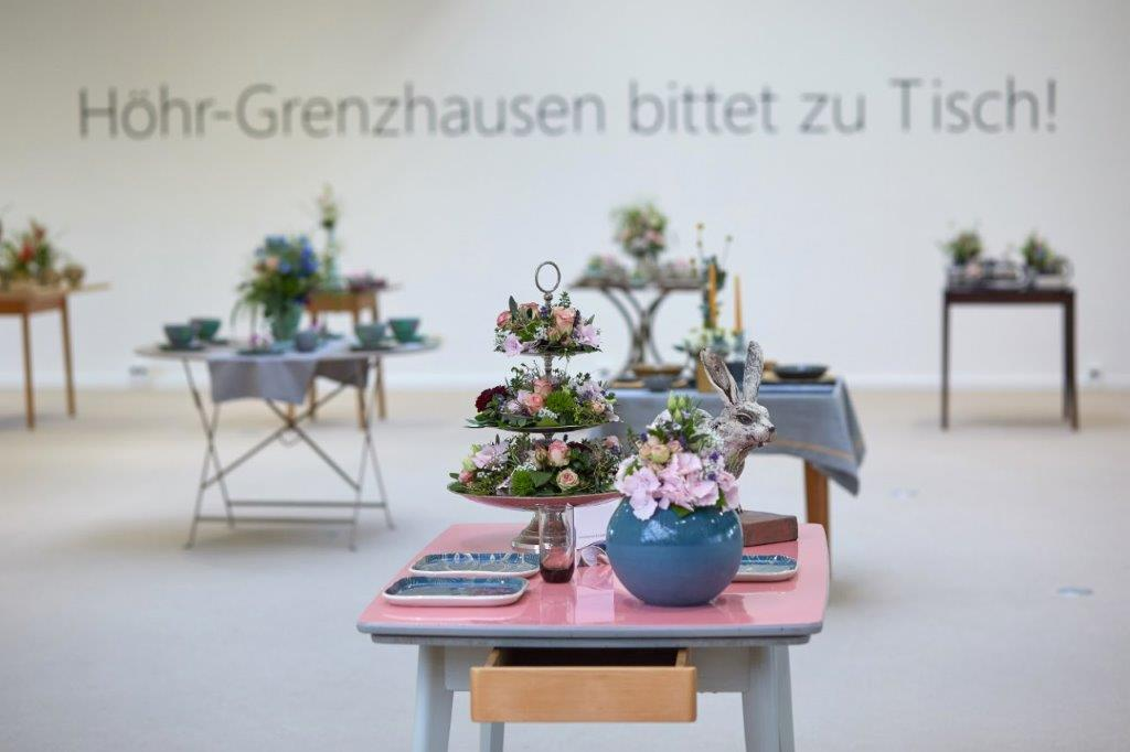 Tentoonstelling in het keramiekmuseum in Höhr-Grenzhausen, Westerwald