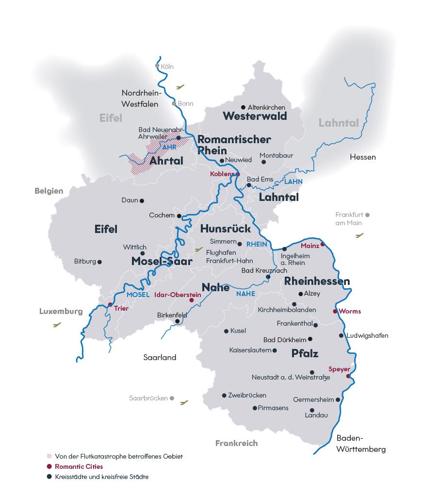 Rheinland-Pfalz-Karte