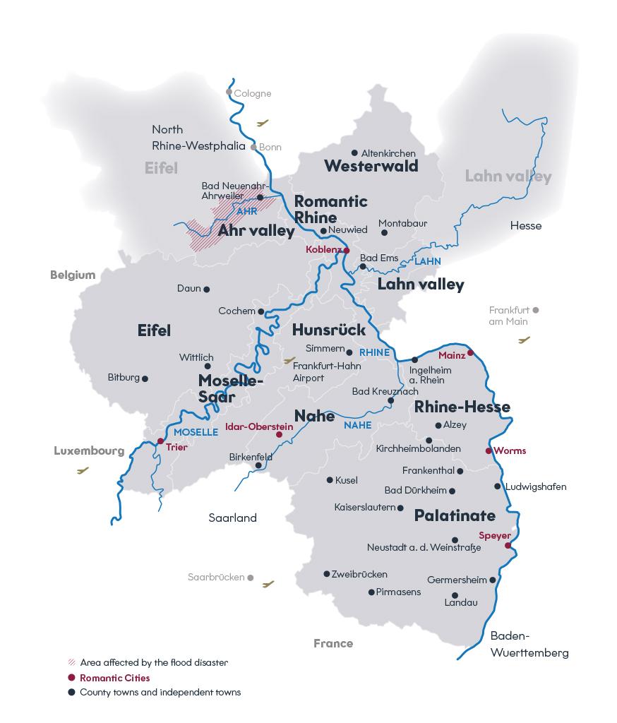 Survey map of Rhineland Palatinate