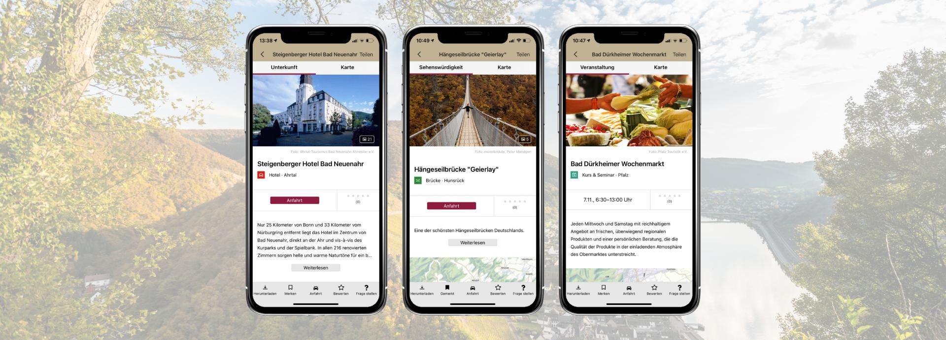 Mobile Ansicht Rheinland-Pfalz erleben App