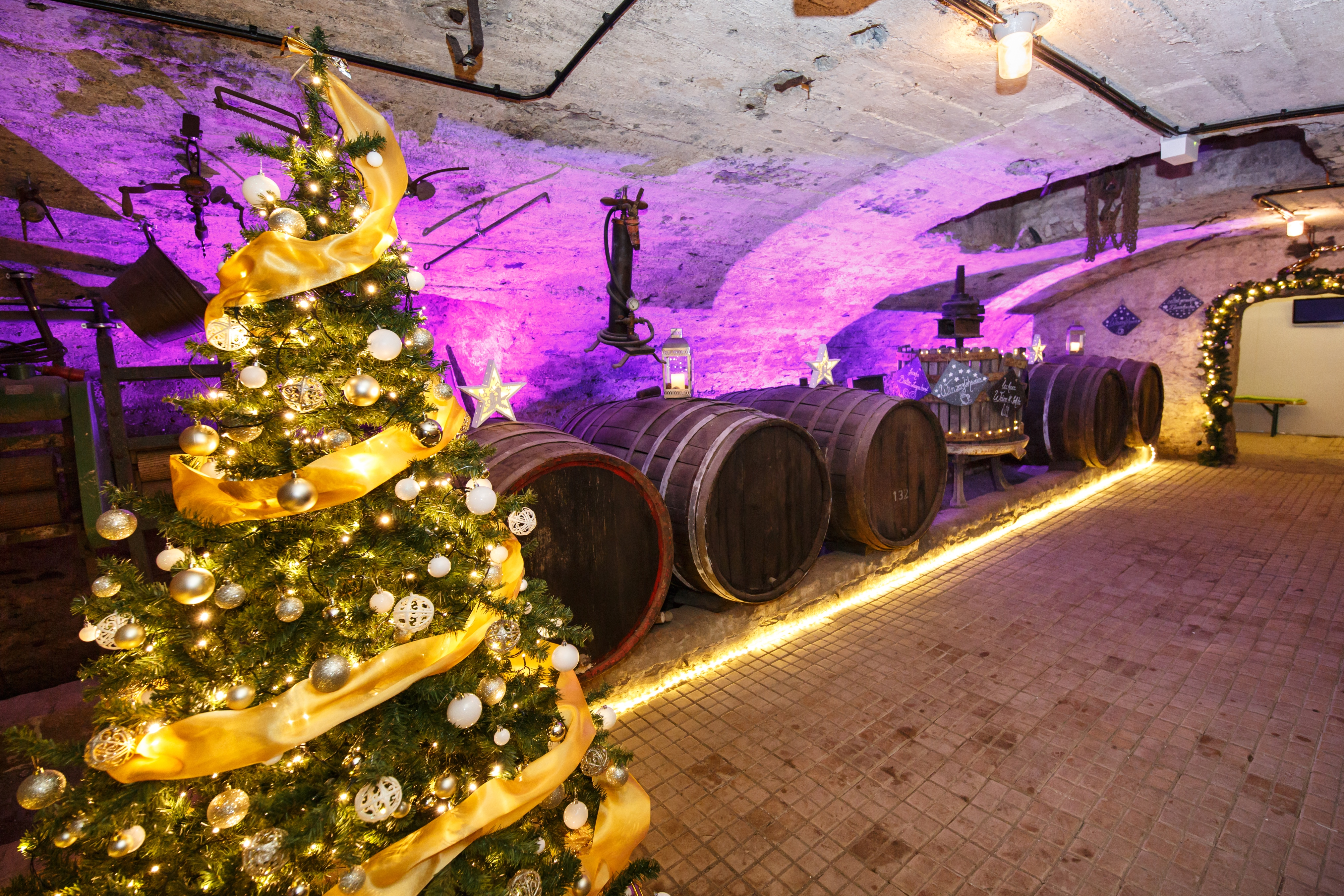 Christmas market in the underworld of Traben-Trarbach, Moselle valley