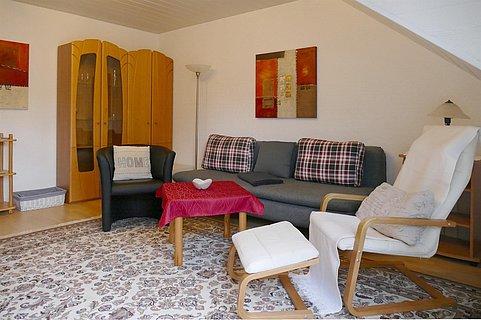 Wohnzimmmer  Ferienwohnung Pabst