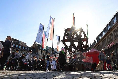 Historisches Holzriesenrad