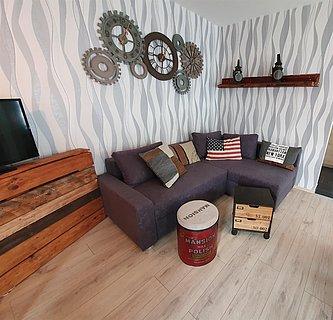 Gästehaus Alte Gießerei wohnzimmer industry style