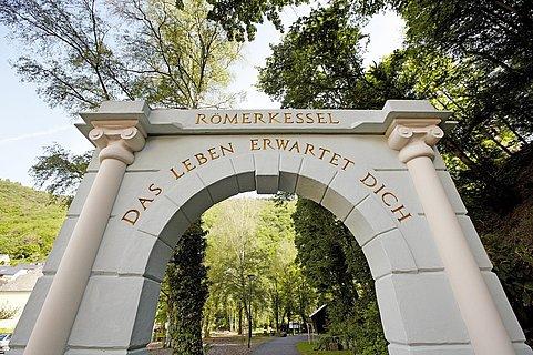 Landschaftstherap. Park Römerkessel - Eingang