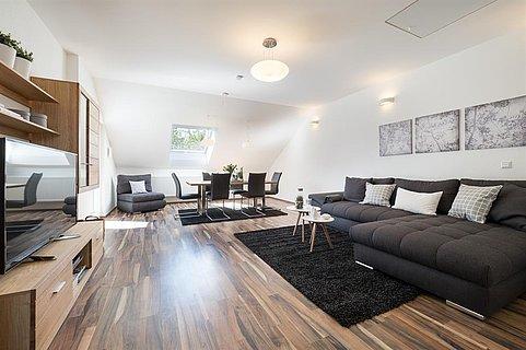 Wohnzimmer Miralior Apartment Mainz