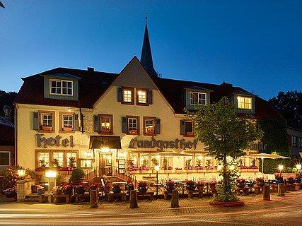 Hotel Restaurant Burgschänke bei Nacht