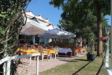 Ristorante Pizzeria Rheinkrone Lahnstein Terrasse
