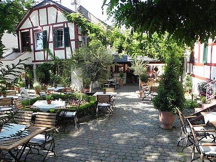 Gemütlicher Innenhof Klostermühle