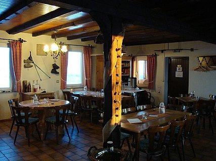 Innenraum Steinbacher Hütte